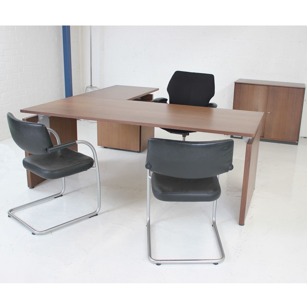 Bene P2 Managers Suite High End Office Set Veneer